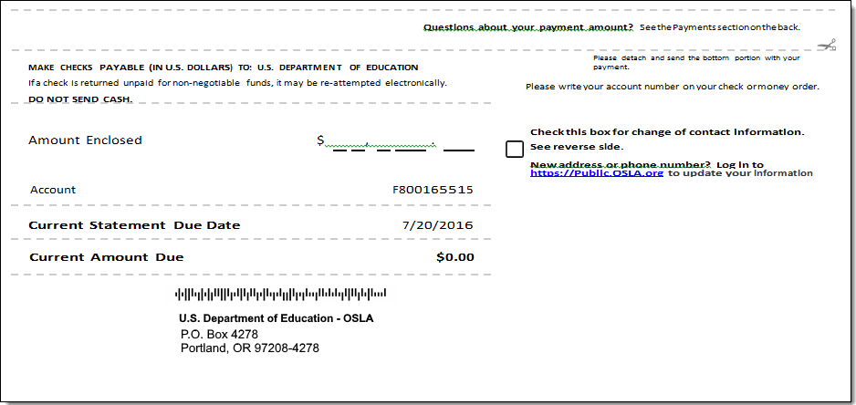 Sample Payment Stub Image